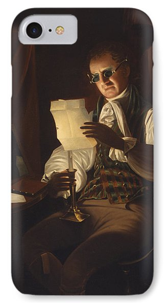 Man Reading By Candlelight IPhone Case by Rembrandt Peale