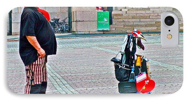 Man Singing In Senate Square In Helsinki-finland Phone Case by Ruth Hager