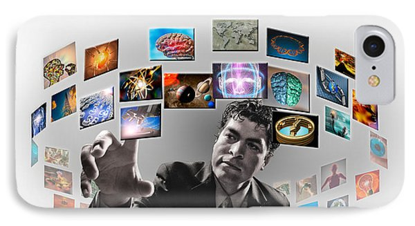 Man Surrounded By Imagery IPhone Case by Panoramic Images
