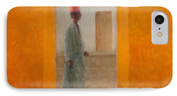 Man, Tangier Street, 2012 Acrylic On Canvas IPhone Case by Lincoln Seligman