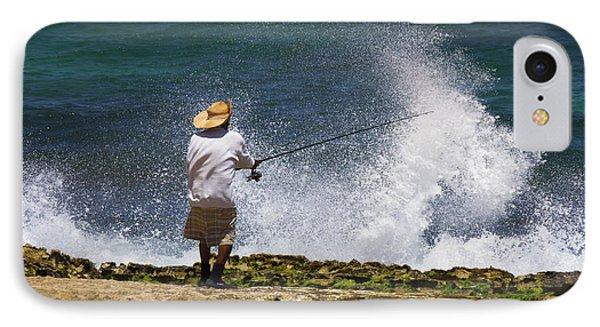 Man Versus The Sea Phone Case by Mike  Dawson