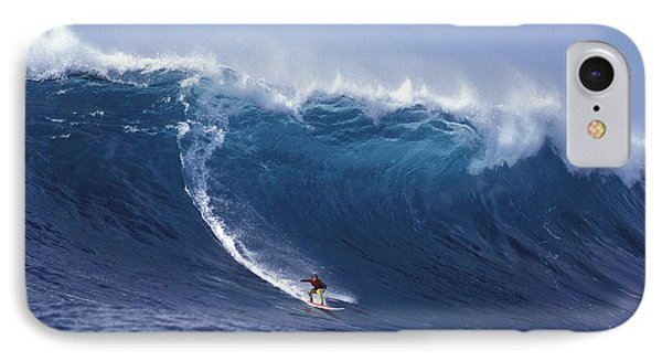 Man Vs Mountain IPhone Case by Sean Davey