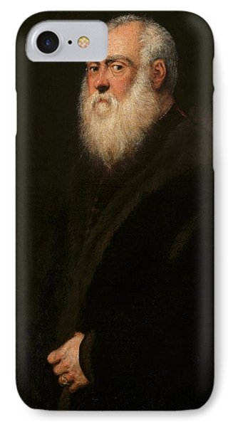 Man With A White Beard IPhone Case by Tintoretto