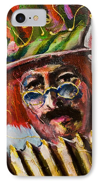 Man With Accordion-detail From Three Red Musicians IPhone Case by Maxim Komissarchik