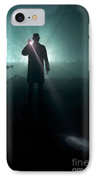 IPhone Case featuring the photograph Man With Flashlight  by Lee Avison
