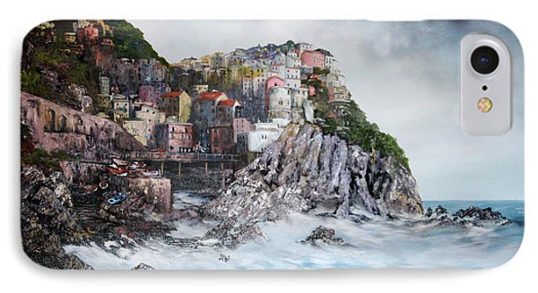 Manarola Italy IPhone Case by Jean Walker
