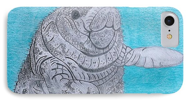 Manatee Close Encounter IPhone Case