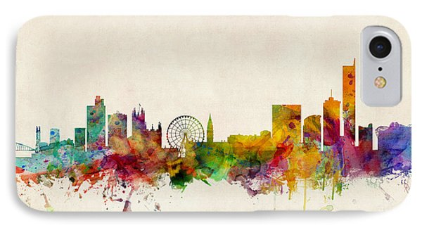 Manchester England Skyline IPhone Case
