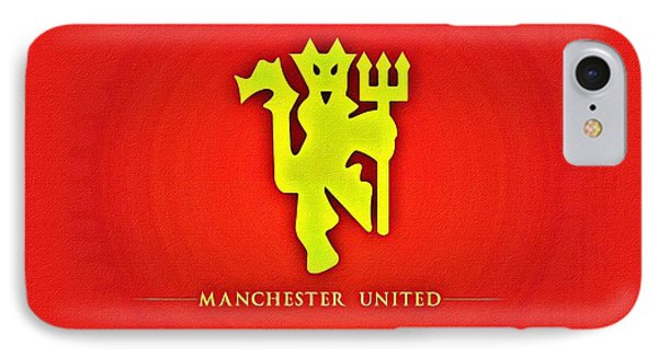 Manchester United Football Club Poster IPhone Case