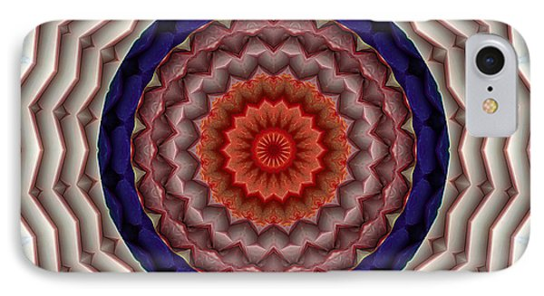 IPhone Case featuring the digital art Mandala 10 by Terry Reynoldson