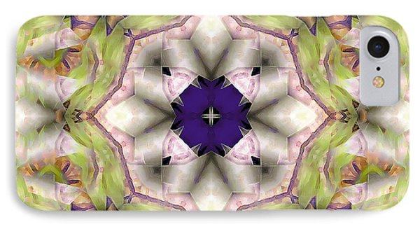 IPhone Case featuring the digital art Mandala 127 by Terry Reynoldson