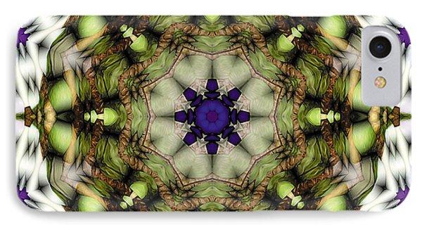IPhone Case featuring the digital art Mandala 21 by Terry Reynoldson