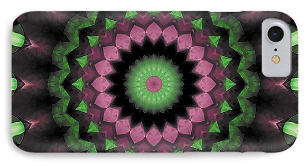 IPhone Case featuring the digital art Mandala 34 by Terry Reynoldson