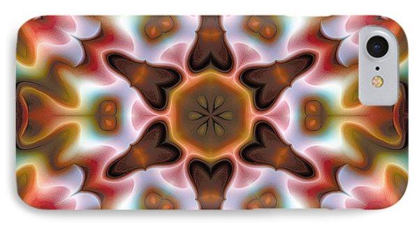 IPhone Case featuring the digital art Mandala 68 by Terry Reynoldson