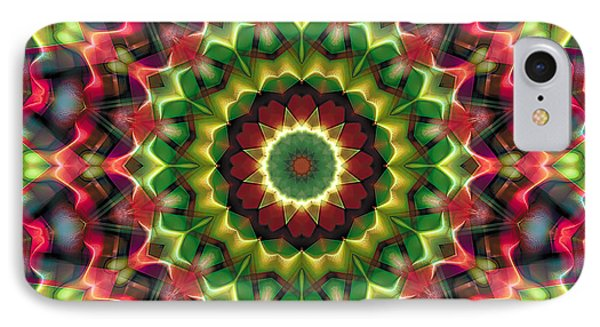 IPhone Case featuring the digital art Mandala 70 by Terry Reynoldson