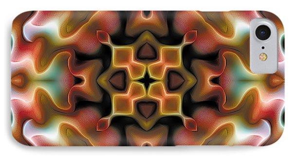 IPhone Case featuring the digital art Mandala 76 by Terry Reynoldson