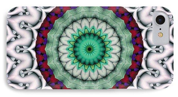 IPhone Case featuring the digital art Mandala 9 by Terry Reynoldson