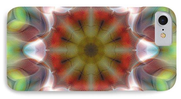 IPhone Case featuring the digital art Mandala 97 by Terry Reynoldson