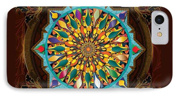 Mandala Droplets Phone Case by Bedros Awak