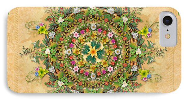 Mandala Flora Sp IPhone Case by Bedros Awak