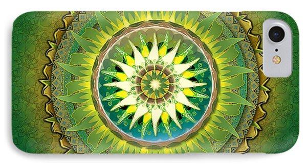 Mandala Green Sp Phone Case by Bedros Awak