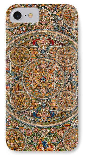 Mandala Of Heruka In Yab Yum And Buddhas IPhone Case by Lanjee Chee