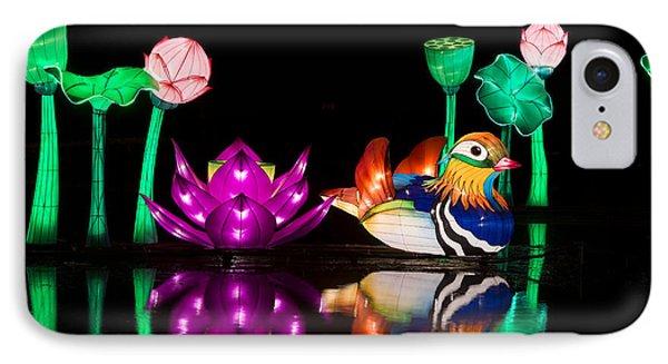 Mandarin Duck Chinese Lantern IPhone Case by Tim Gainey