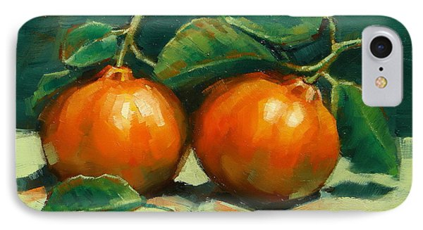 IPhone Case featuring the painting Bush Mandarins by Margaret Stockdale