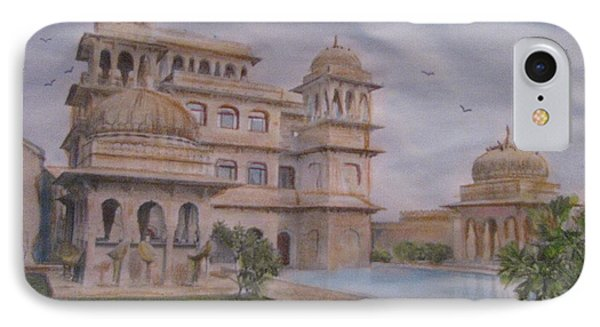 IPhone Case featuring the painting Mandawa Hotel by Vikram Singh