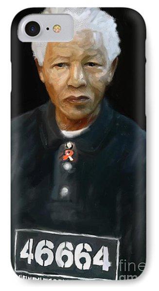 IPhone Case featuring the digital art Mandela by Vannetta Ferguson