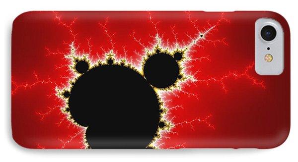 Mandelbrot Fractal Art Black White And Bold Red Phone Case by Matthias Hauser