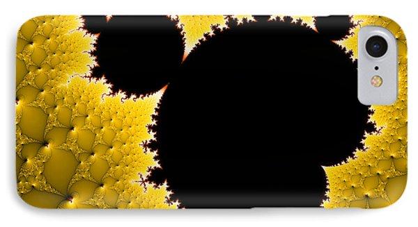 Mandelbrot Set Black And Yellow Fractal Art IPhone Case