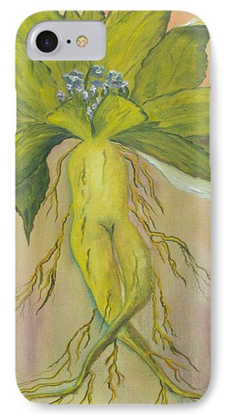 IPhone Case featuring the painting Mandrake by Conor Murphy