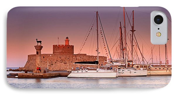 Mandraki Harbour IPhone Case by Ollie Taylor