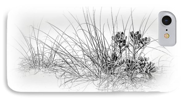 Mangrove And Sea Oats-bw IPhone Case by Marvin Spates