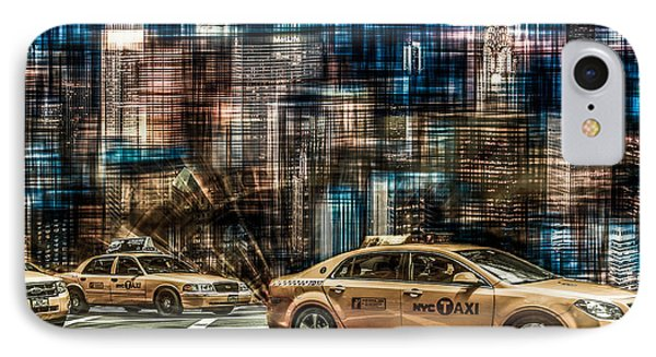 Manhattan - Yellow Cabs - Future Phone Case by Hannes Cmarits