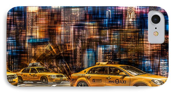 Manhattan - Yellow Cabs I Phone Case by Hannes Cmarits