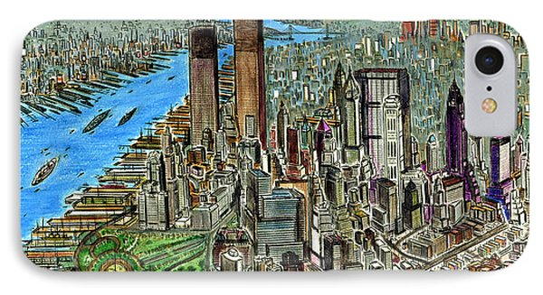 New York Downtown Manhattan 72 IPhone Case by Art America Gallery Peter Potter