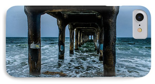 Manhattan Beach Peir IPhone Case by Joe Scott
