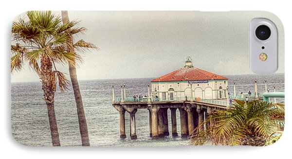 Manhattan Beach Pier IPhone Case by Juli Scalzi