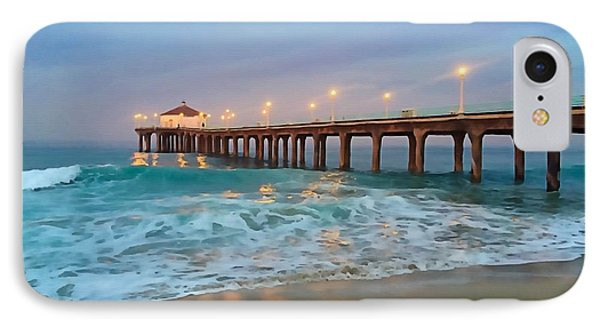 Manhattan Beach Reflections IPhone Case by Art Block Collections