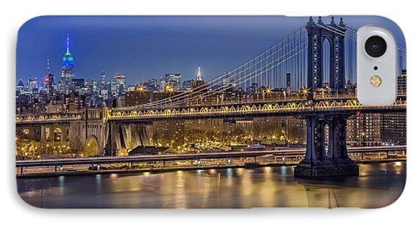 Manhattan Bridge Phone Case by Eduard Moldoveanu
