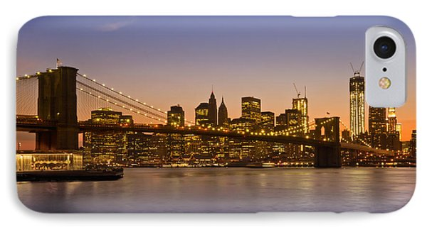 Manhattan Brooklyn Bridge Phone Case by Melanie Viola