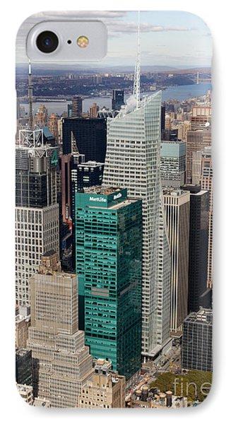 Manhattan Bryant Park Aerial Phone Case by Jannis Werner