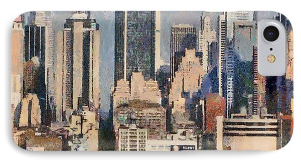 Manhattan Digital Artwork Buildings Usa IPhone Case