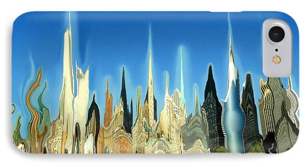 New York City 2100 - Modern Art IPhone Case by Art America Gallery Peter Potter
