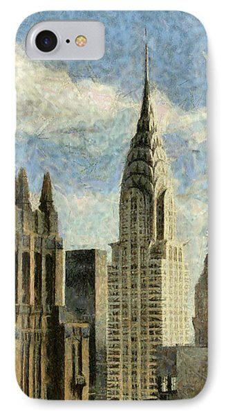 Manhattan City In A Clouldly Day IPhone Case