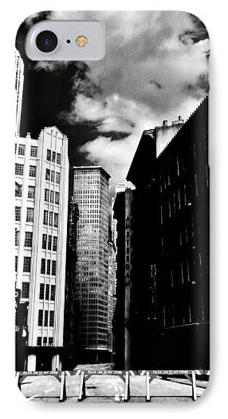 Manhattan Highlights B W Phone Case by Benjamin Yeager