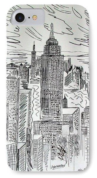 Manhattan IPhone Case by Janice Rae Pariza