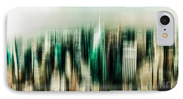 Manhattan Panorama Abstract Phone Case by Hannes Cmarits